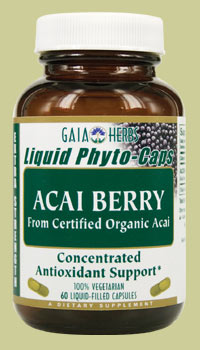 Concentrated Antioxidant Support from Certified Organic Acai.